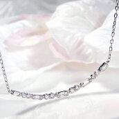 Pt900【0.50ct】ダイヤモンドラインネックレス