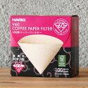 ハリオ(HARIO) V60用コーヒーペーパーフィルター 透過法 円すい形 100枚入り(茶・みさらし)(VCF-02-100MK)