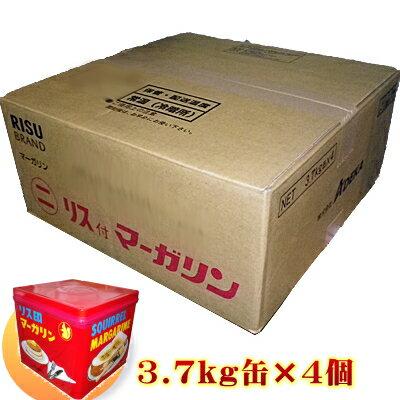ADEKA リス印 マーガリン(マルニ)3.7kg×4缶