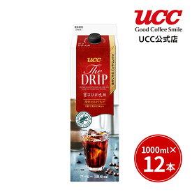 【UCC公式コーヒー】ザ ドリップ (THE DRIP) 甘さひかえめ 1000ml×12本