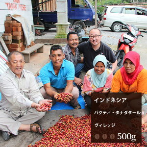 インドネシア バクティ・タナダタールヴィレッジ【500g】 コーヒー豆 珈琲 コーヒー 美味しい 高級 ブラック 自家焙煎 焙煎 珈琲豆 豆 中深煎り