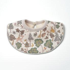 cofucu リバティーどうぶつ柄 付け衿型4wayスタイ |コフク 日本製 よだれかけ ベビー服 敏感肌 出産祝い 内祝い 自然素材 出産 ギフト プレゼント オーガニック コットン エシカル ファクトリーブランド
