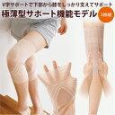 【メール便】膝の曲げ伸ばしがラクに◆極薄ひざWライン構造サポーター [コジット]ソフトなのに伸縮性があり膝の動きを…