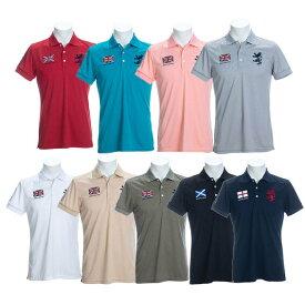 アドミラルゴルフ メンズ フラッグ ポロシャツ 半袖 ゴルフウエア トップス Admiral Golf 2020春夏【送料無料】ラッピング 対応可 贈り物 ユニフォーム