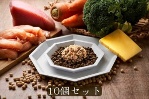 Cokoオリジナル キャットフード用ドッグフード用トッピング チキン&ツナチーズ10個 無添加 国産 手作り食 冷凍 (50g×10pack) Chicken and tuna cheese