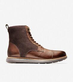コールハーン Colehaan アウトレット メンズ アウトレット シューズ ブーツ & チャッカ オリジナルグランド キャップトゥ ブーツ II mens C29456 ブラウン / ブラック