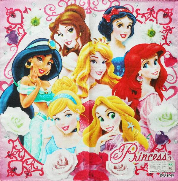 〈★Princess〉【キャラクター】ハンカチ(1枚透明袋入り) プリンセス ローズピンク