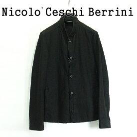 【SALE】 Nicolo Ceschi Berrini ( ニコロ チェスキ ベリーニ ) メンズ ショートブルゾン BLACK ■ Nicolo Ceschi Berrini ( ニコロ チェスキ ベリーニ ) ショートジャケット ブラック