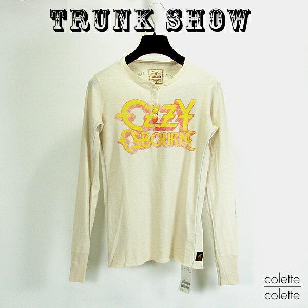 トランクショーTRUNK SHOW (トランクショー )レディース Tシャツ レディース ロックT ロンT  OZZY OSBOURNE ( オジー・オズボーン ) ベージュ TRUNK SHOW (トランクショー ) レディース ロングスリーブ Tシャツ