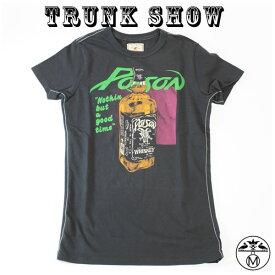 トランクショー TRUNK SHOW トランクショー レディースTシャツ ロックTシャツ  レディースTシャツ Poison ( ポイズン ) BLACK TRUNK SHOW トランクショー レディースTシャツブラック