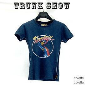 トランクショーTRUNK SHOW (トランクショー)レディース Tシャツ  Jimi Hendrix ( ジミ・ヘンドリックス ) 紺TRUNK SHOW (トランクショー)レディース Tシャツ
