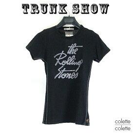 トランクショーTRUNK SHOW トランクショー レディース Tシャツ ロックTシャツ  レディース Tシャツ THE ROLLING STONES (ローリングストーンズ ) ブラック 黒