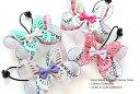 ◎再入荷◎ワンポイントヘアゴム◎25mmツイスト蝶々和柄りぼん◎蝶々パーツ&一段りぼん付きデザインヘアゴム キッズ …