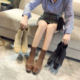 ショートブーツ ソックスブーツ 靴 シューズ レディース ムートンブーツ レディース 秋 ショート 大きいサイズ 冬 暖かい かわいい おしゃれ ソックスシューズ