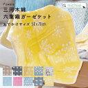六重織ガーゼケット 50×70cm おでかけサイズ 単色柄 Fuwara 毛布 ベビー 赤ちゃん 三河木綿 コットン100% 日本製 リバーシブル ひざ掛け ミニサイズ ナカモリ nichie ニチエ