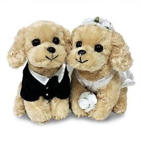 結婚祝い 贈り物 犬ウェルカムドール ブライダルウェディングドール ぬいぐるみコッカースパニエル
