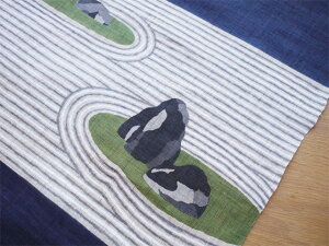 京都洛柿庵手描きタペストリー名園枯山水