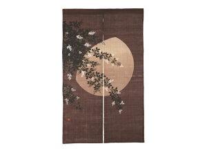 京都洛柿庵 秋の飾りろうけつ染めのれん 萩月
