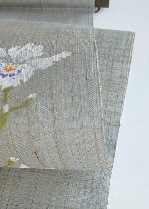 京都洛柿庵手描き手染めタペストリーシャガの花