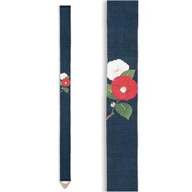 京都洛柿庵 手描き 手染め お正月飾り細タペストリー 紅椿白椿