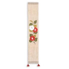 京都洛柿庵 冬の飾り 手描き豆タペストリー 寒つばき