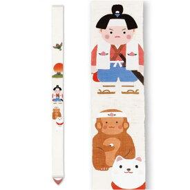 京都洛柿庵 手描き 細タペストリー 初夏の飾り 桃太郎 端午の節句飾り 男の子