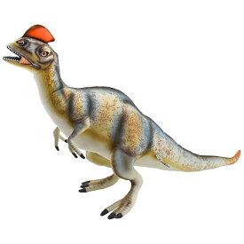 ハンサ【HANSA】ぬいぐるみディロフォサウルスオレンジのトサカがお洒落