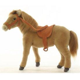 ハンサ【HANSA】ぬいぐるみ鞍つき馬37cm(薄茶) うま ウマ