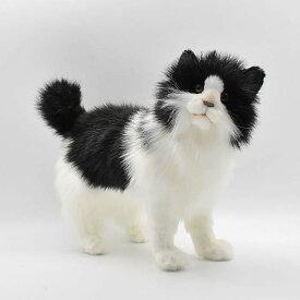 ハンサ【HANSA】ぬいぐるみ白黒ネコ43cm シロクロ