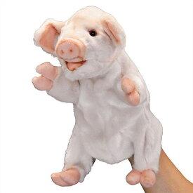 ハンサ HANSA ぬいぐるみハンドパペット ブタ25 ピンク ぶた 豚