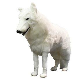 ハンサ【HANSA】ぬいぐるみホッキョクオオカミ108cm 立ち姿