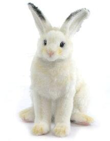 ハンサ【HANSA】ぬいぐるみ白ウサギ18cm