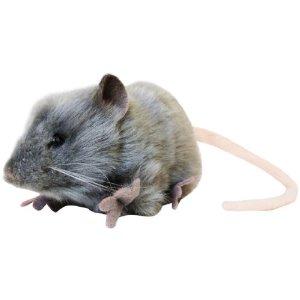 【HANSA】ぬいぐるみ灰色ネズミ27cm