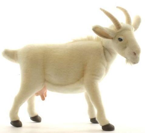 【HANSA】ぬいぐるみ白ヤギ48cm