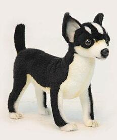 ハンサ【HANSA】ぬいぐるみチワワ27cm ワンちゃん わんこ イヌ いぬ 犬 白黒 ペット