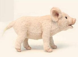 ハンサ【HANSA】ぬいぐるみブタ23cm ピンク ぶた 豚 かわいい