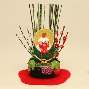 京都龍虎 ちりめん細工お正月飾り 福々ミニ門松(鏡餅)