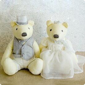 結婚祝い 贈り物 テディベアウェルカムドール【楽ギフ_包装】ウェディングベア リリーベルM