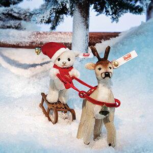 【シュタイフ正規販売店】ご予約Steiffシュタイフ世界限定クリスマススレイ(ソリ)セット