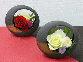 プリザーブドフラワー和モダン バラアレンジ敬老の日 誕生日祝い結婚祝い 贈り物 母の日