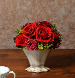 プリザーブドフラワースタンダードアレンジ 2色母の日、敬老の日、結婚祝い、誕生日祝い