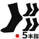 5本指ソックス メンズ 日本製 5足組 送料無料 メンズ ソックス 5本指 綿100% 靴下 5本指靴下 紳士靴下 ビジネスソックス メンズ 消臭 靴下 メンズ クルーソックス(00128)