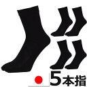 靴下 ソックス メンズ 5足セット 5本指 五本指 国産 日本製 送料無料(ネコポスの場合)五本指靴下 五本指ソックス 靴…