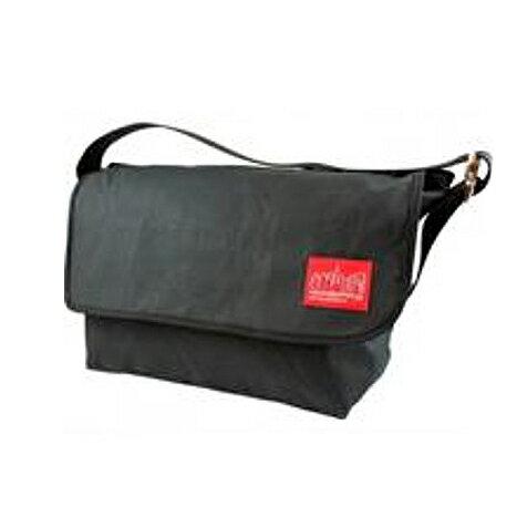 【マンハッタンポーテージ】 Manhattan Portage 1607V-WCN Waxed Canvas Messenger Bag-L MP1607V-WCN ワックスドキャンバスメッセンジャーバッグ L ショルダーバッグ バッグ ブラック BLACK