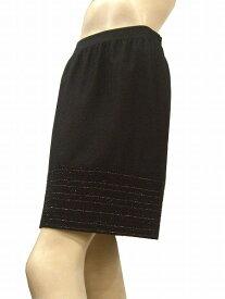 【中古】 ノーリーズ NOLLEY'S Sophi 裾モールタイトスカート 表記38号(M 9号相当 黒 ラメ入フラノ地 パーティーにも 秋冬 レディース 【1AW】
