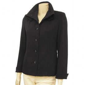 【中古】スペッチオ SPECCHIO 素敵なジャケット 表記40号(L/11号相当) 万能黒 美襟 着回し万能 デイリー使いにも 春秋 レディース