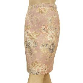 【中古】 ローラアシュレイ laura ashley 上品スカート 表記EUR36号(S/7号相当) ピンク系 コットン100% 華やかお花模様 お出掛けにも 春夏秋 レディース【楽天スーパーSALE対象商品】