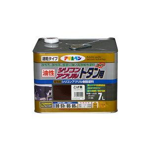 送料無料 アサヒペン 油性シリコンアクリルトタン用 7L 屋根 トタン ひさし シリコン 速乾