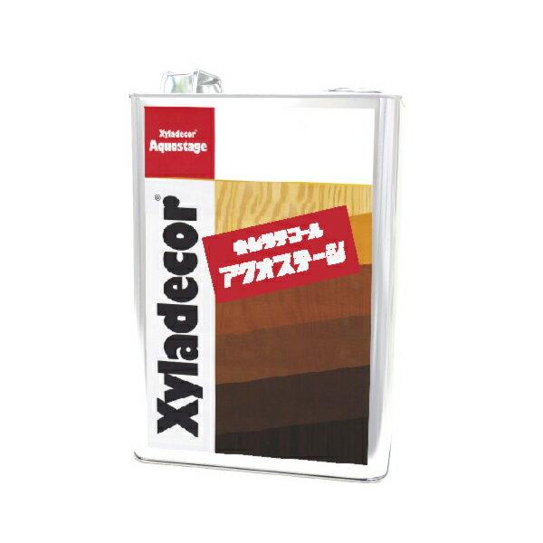 [R] キシラデコール アクオステージ 401 カラレス (無色・下塗り用) [3.5kg] XyLadecor 水性 屋外木部用 木材保護塗料