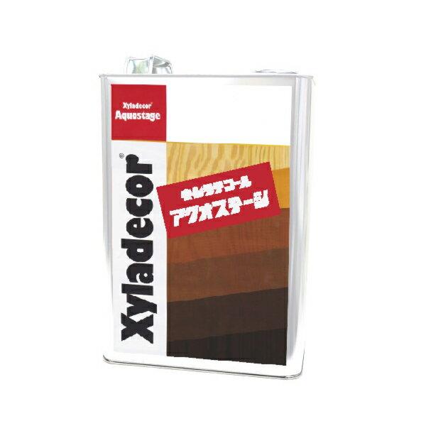 [R] キシラデコール アクオステージ 412 ジェットブラック [3.5kg] XyLadecor 水性 屋外木部用 木材保護塗料